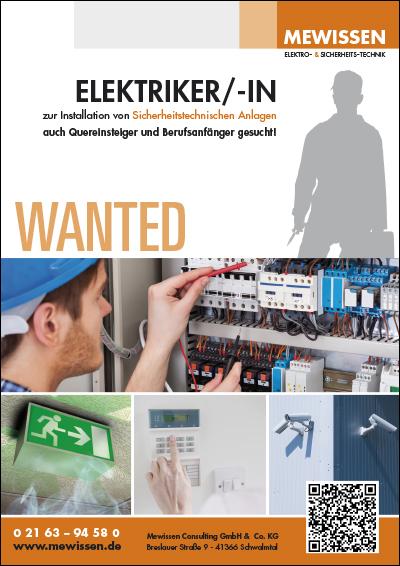 Elektriker wanted